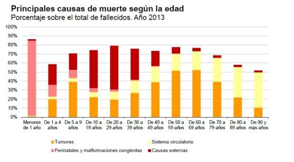 gráfico muertes españa 2013